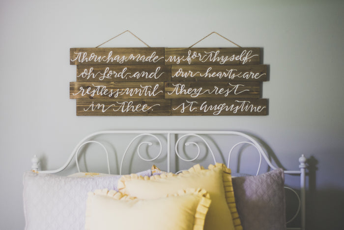 Hand Lettered Hanging Wood