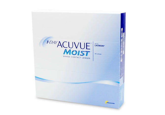 1- Day ACUVUE Moist Contact Lens. (90 pack)