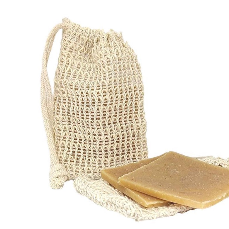 Natural Ramie Soap Pouch