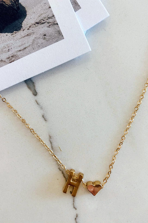 Gold Plated Initial Necklaces