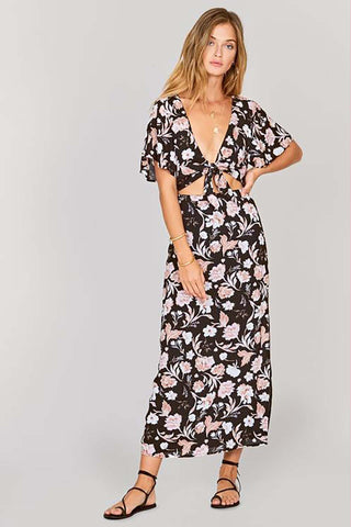 Pia Floral Wrap Dress