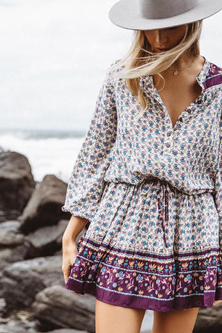 Midsummer Sweetheart Mini Wrap Dress