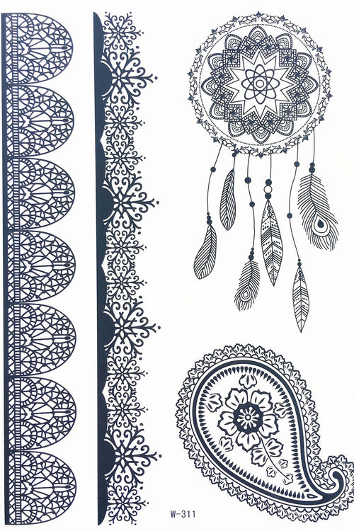 Metallic & Festival Temporary Tattoo's - Various Styles