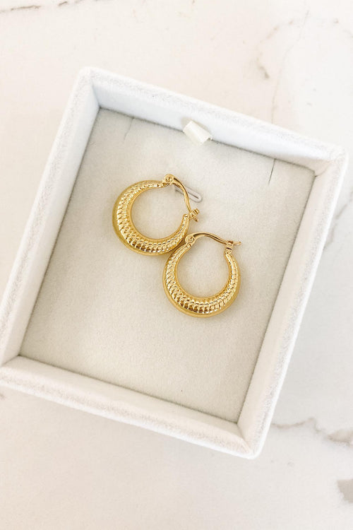 Maddy Textured Hoops