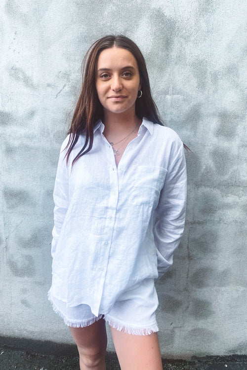 Amy Linen Shirt White