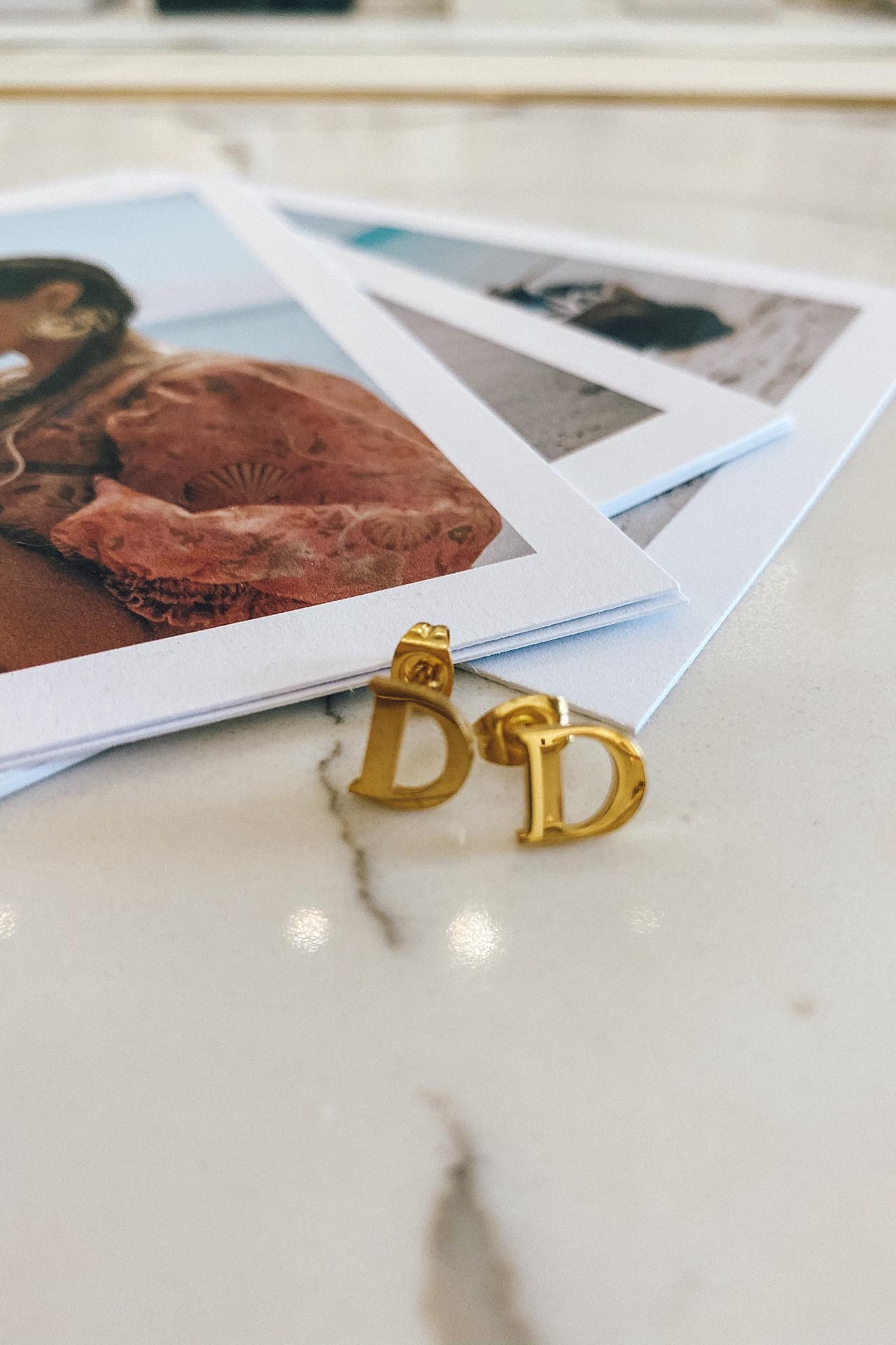 Gold Plated Initial Earrings