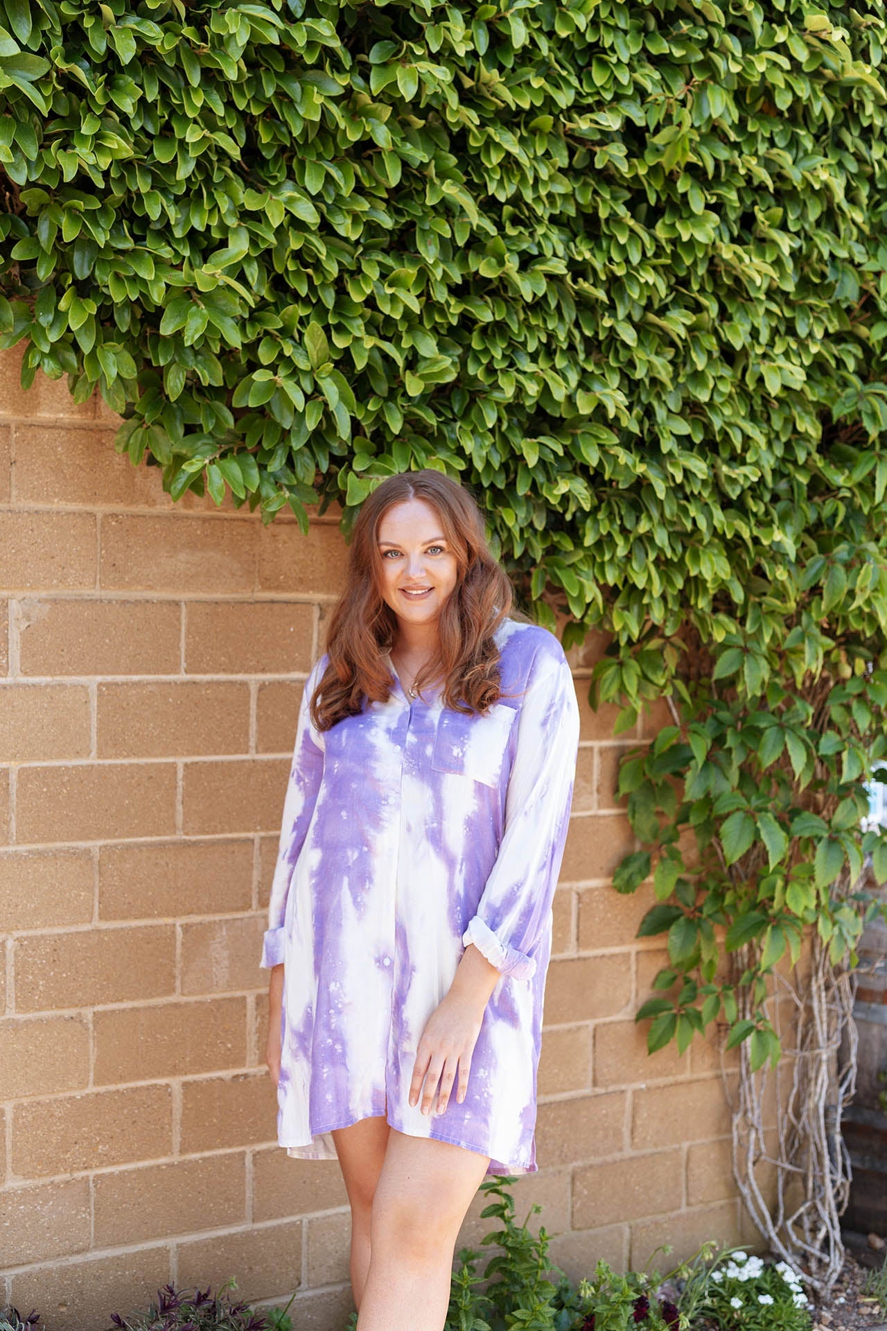 Stevie Boyfriend Shirt Purple Haze