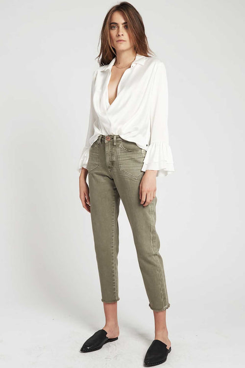 Khaki Legend High Waist Mom Jean