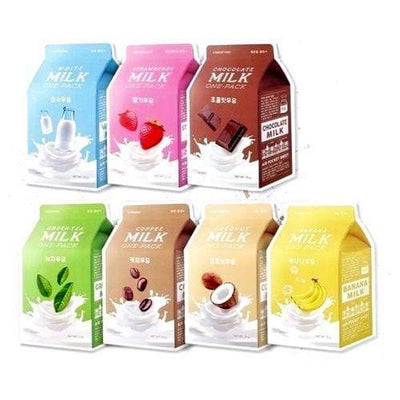 A'PIEU Milk Seven-Pack Mask Sheet Set