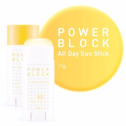 A'PIEU Power Block All Day Sun Stick SPF50+ PA++++