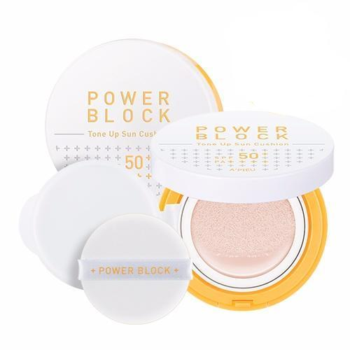 A'PIEU Power Block Tone Up Sun Cushion SPF50+ PA++++