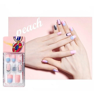 ETUDE x WEDDING PEACH, Enamelting Gel Nail Art Tip Kit Artificial Nails
