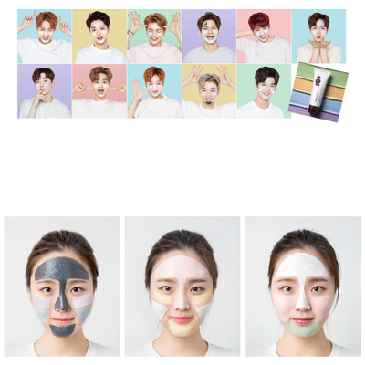 innisfree Jeju volcanic color clay mask Purple Calming