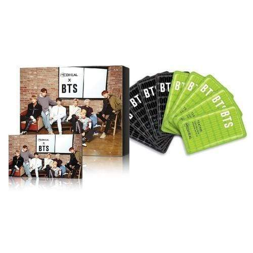 MEDIHEAL x BTS Brightening Care Special Set Mask 10 sheets BTS 14 Photo Cards