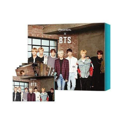 MEDIHEAL x BTS Soothing Care Special Set Mask 10 sheets BTS 14 Photo Cards