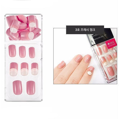THE FACE SHOP Gel Chock Press on Gel Nail Tip Kit Artificial Nails