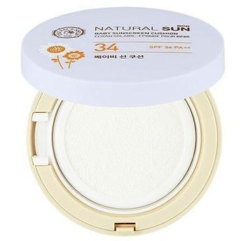 THE FACE SHOP Natural Sun Eco Baby Sunscreen Cushion SPF34 PA++