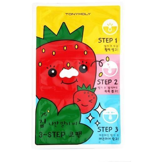 TONYMOLY Homeless Strawberry Seeds 3 step Blackhead Mask