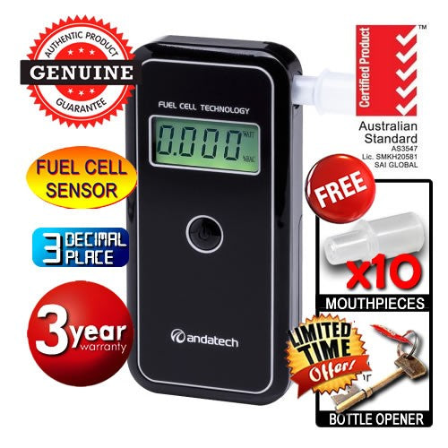 AlcoSense - Stealth Personal Fuel Cell Breathalyser Andatech
