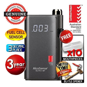 AlcoSense - Elite 3 Personal Fuel Cell Breathalyser with Bluetooth Andatech
