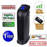 Ionmax - ION390 Tower Ionic Air Purifier with UV + HEPA + TiO2 Filter Andatech