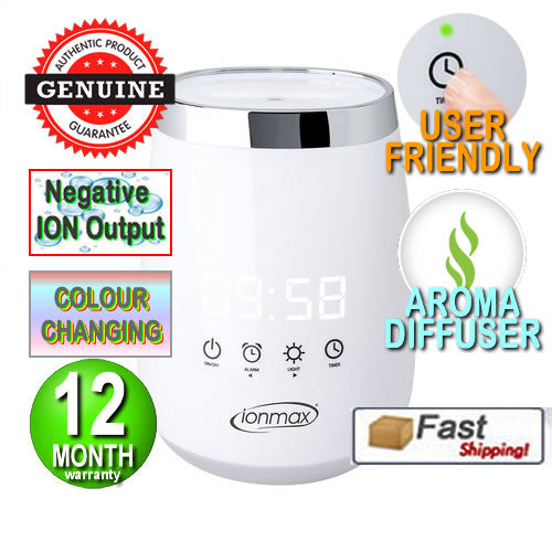 Ionmax - ION138 Serene Ultrasonic Mist Aroma Diffuser Humidifier with Ioniser & Timer Andatech