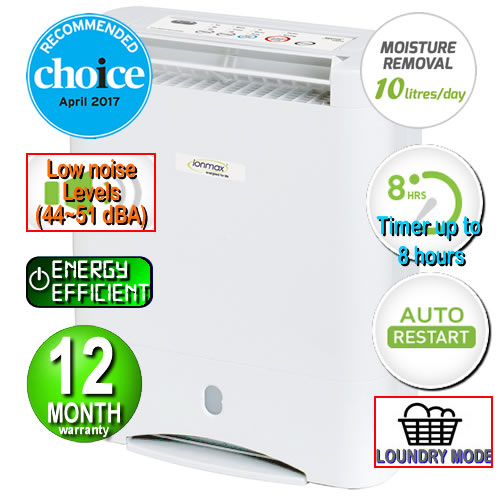 Ionmax - ION632 Desiccant Dehumidifier with Silver Nano Air Filter Andatech