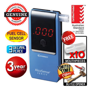 AlcoSense - Verity Blue Personal Fuel Cell Breathalyser Andatech