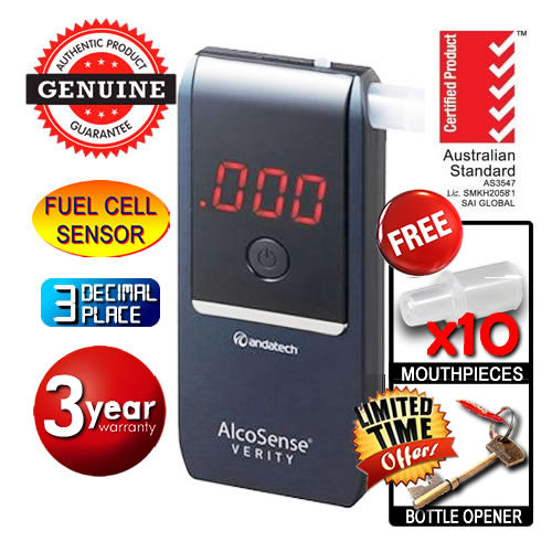 AlcoSense - Verity Navy Personal Fuel Cell Breathalyser Andatech