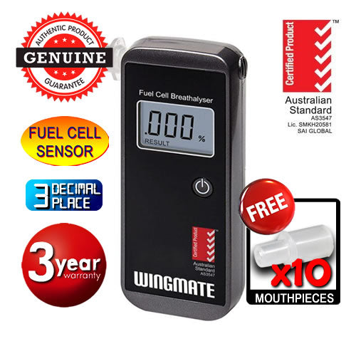 AlcoSense - Wingmate Pro Personal Fuel Cell Breathalyser Andatech