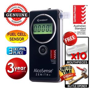 AlcoSense - Zenith+ Professional Industrial Grade Fuel Cell Breathalyser Andatech