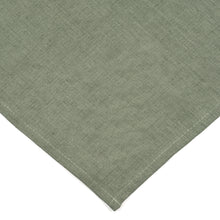 Olive Green Linen Napkins - Set of 8