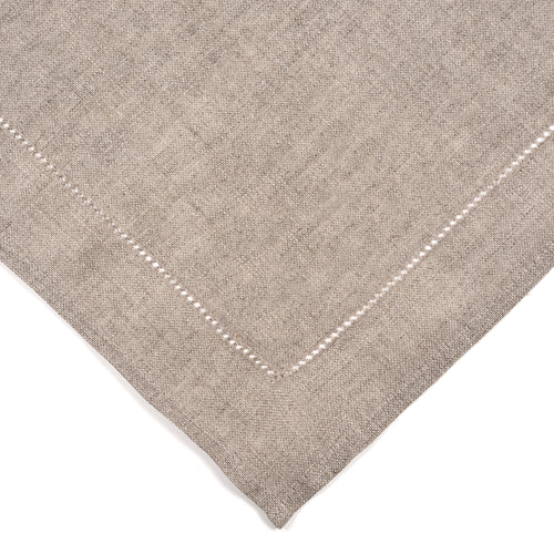 Grey Hemstich Linen Napkins - Set of 8