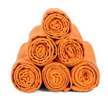 Mandarin Orange Cotton Cloth Napkins {Set of 6}