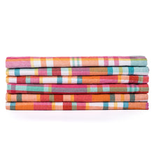 Madras Plaid in Spanish Pink Cotton Cloth Napkins {Set of 6}