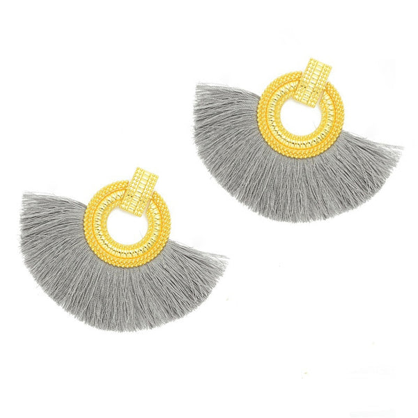 Round Tassel Earrings  - Zaida Fashions