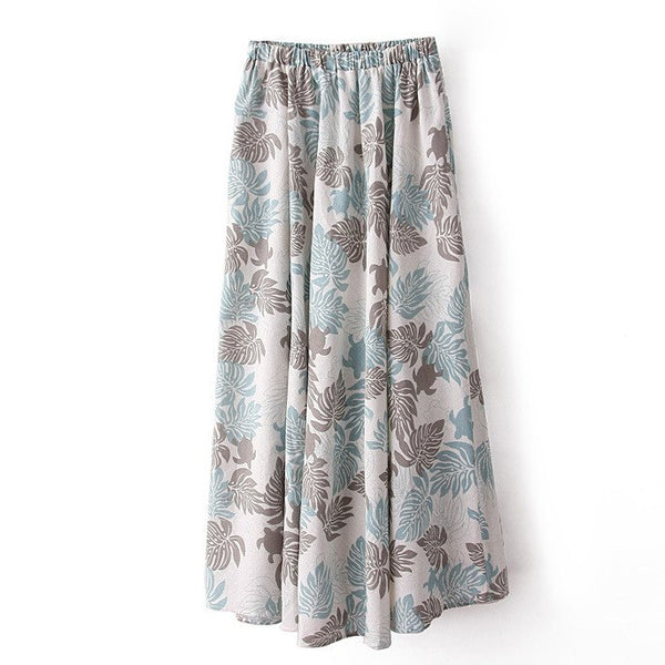 Summer Fashion Cotton Casual Floral Print Skirts  - Zaida Fashions