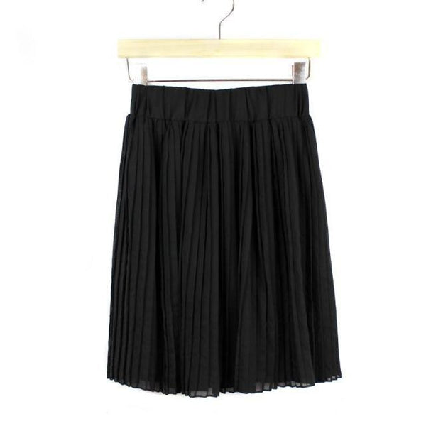 Preppy Style Chiffon Mini Skirts  - Zaida Fashions