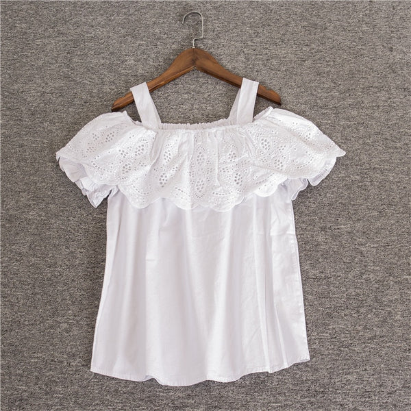 Off the shoulder White Tops  - Zaida Fashions