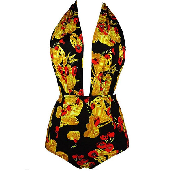 Summer One Piece Swimsuit M to 5XL  - Zaida Fashions