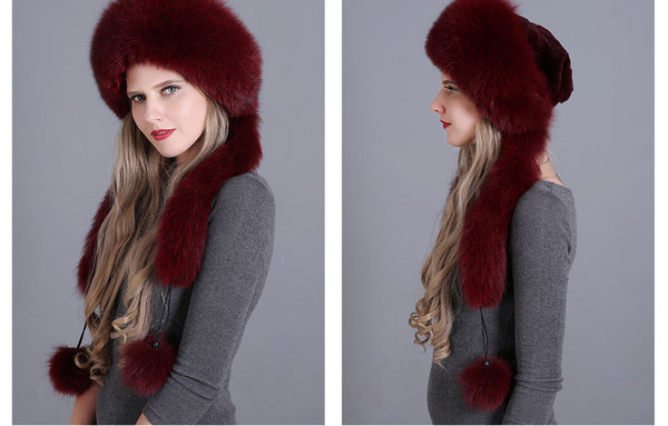 Winter Pompom Bombers Hat Caps