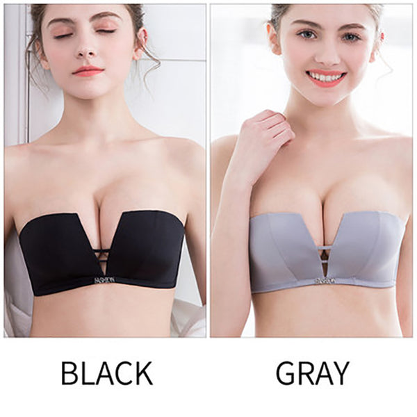 2pcs Push Up Invisible Half Cup Bra  - Zaida Fashions
