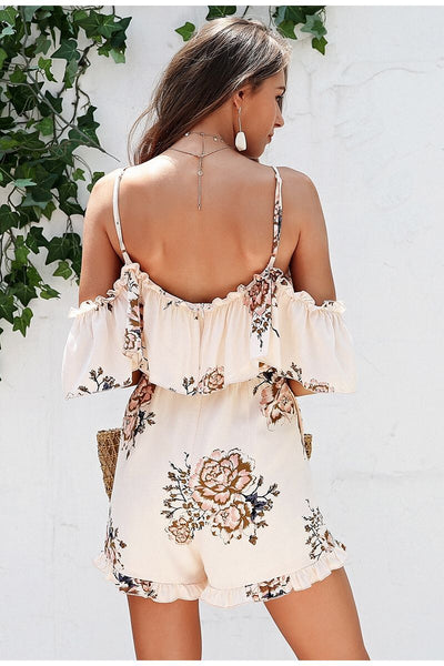 Off Shoulder Summer Jumpsuit  - Zaida Fashions