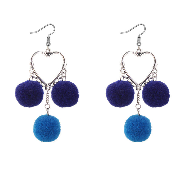 Pom Pom Tassel Earrings  - Zaida Fashions