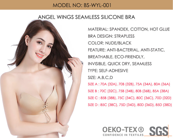 Angel Wings Seamless Silicone Bra  - Zaida Fashions
