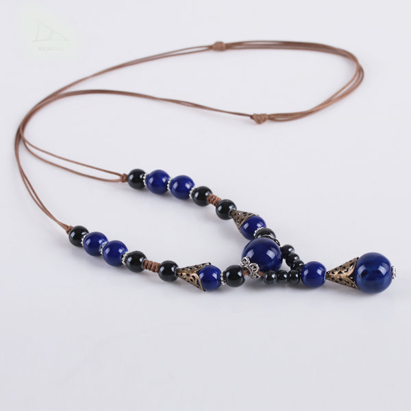 Ceramic Beads Pendant Necklaces  - Zaida Fashions