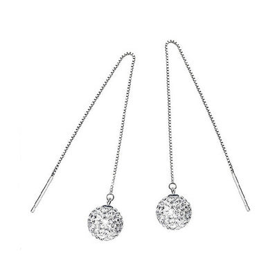 925 Silver Plated Drop Earrings  - Zaida Fashions