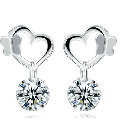Heart Shape Stud Earrings  - Zaida Fashions