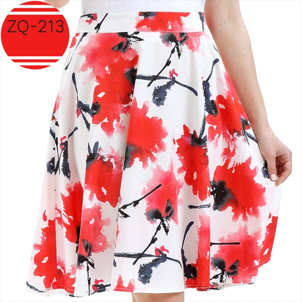 Plus Size Casual Summer Skirts S - 2XL  - Zaida Fashions