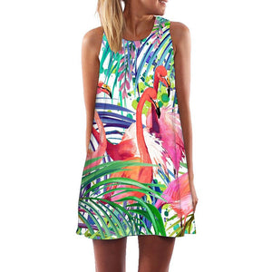 Sleeveless Beach Dress  - Zaida Fashions